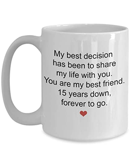 Image Unavailable. Image not available for. Color: 15th Year Wedding Anniversary Gifts ...