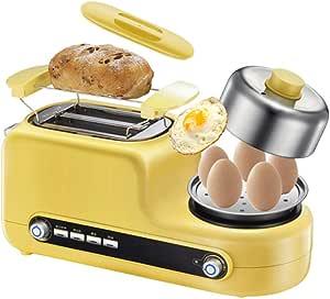 NYKK Tostadores Máquina de Pan de la Rebanada del hogar multifunción Desayuno Máquina Pequeño Huevo Frito Tostadora Calefacción automática Tostadora