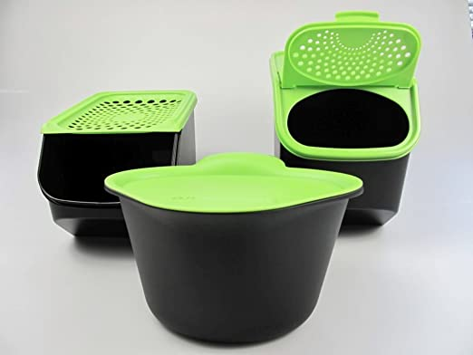 TUPPERWARE Organizador Modular de 5,5 L para cebollas y ajos negro verde