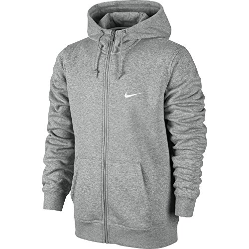 Heather Zip Club Con Hoody Dk white swoosh Fz Felpa Nike Grey 6w1zqRw
