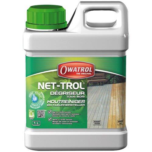Owatrol 820 NET-TROL - Sgrassatore neutralizzante in gel, per tutti i tipi di legno, 1 litro, colore: Trasparente 56101010