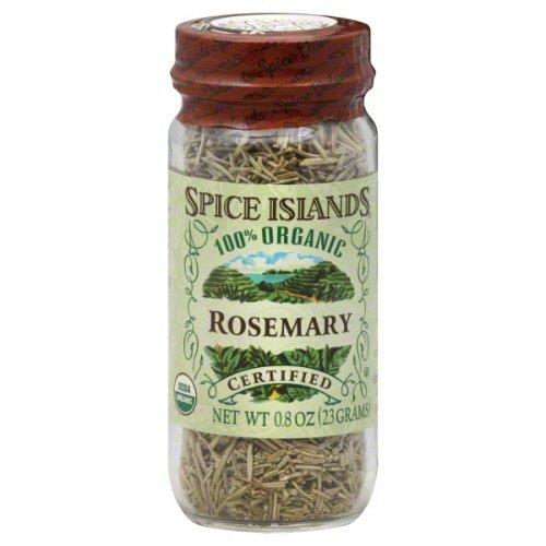Spice Island Rosemary, Organic 0.8oz (Pack of 3)