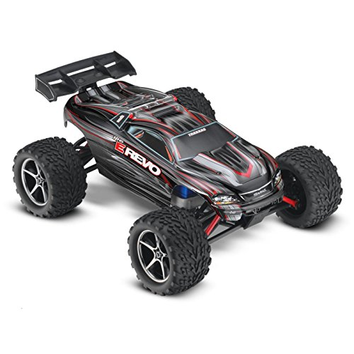Traxxas E-Revo: 1/16-Scale 4WD Racing Monster Truck with TQ 2.4GHz Radio, Black