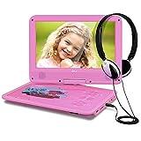 THZY Kids Portable DVD Player, Pink