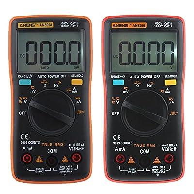 WXLAA ANENG AN8008 True-RMS Digital Multimeter 9999 Counts Square Wave Backlight AC DC Voltage Ammeter