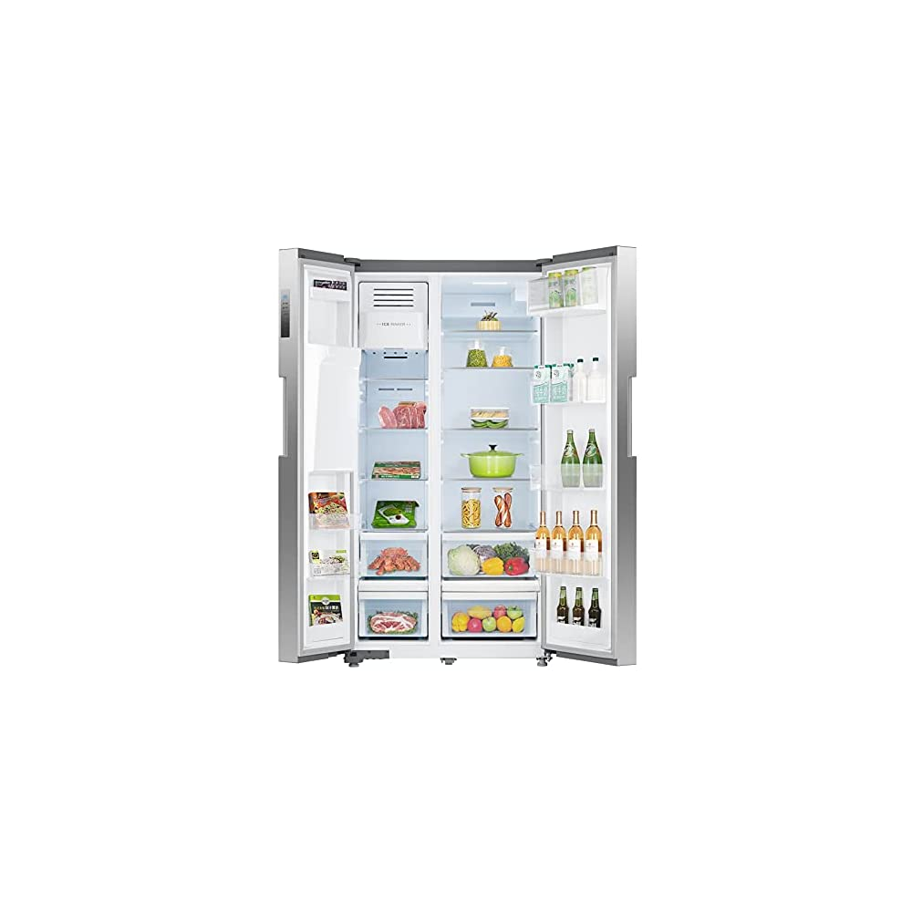 SMETA 36 Inch Side-by-Side Refrigerator 26.3 Cu.Ft Freestanding with Auto Ice Maker and Water Dispenser Large Capacity…