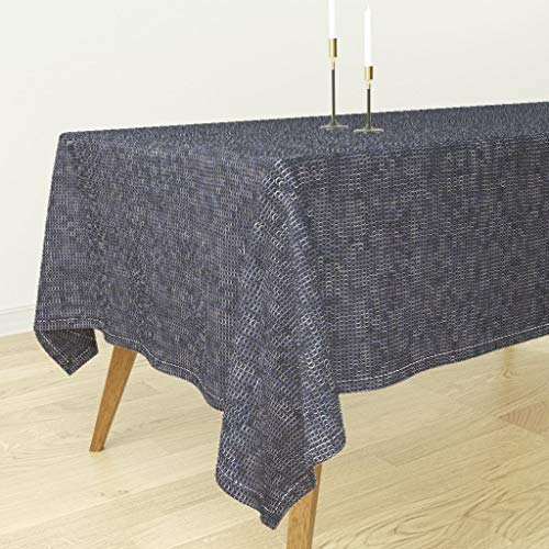 Roostery Tablecloth - Medieval Chainmaille Chain Maille Armor