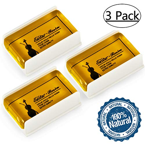 Eastar EAC-RO1 3 Pack Rosin Suits for Violin Viola Cello