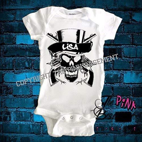 I Play Heavy Metal Infant Baby Short Sleeve Romper Jumpsuit Bodysuit
