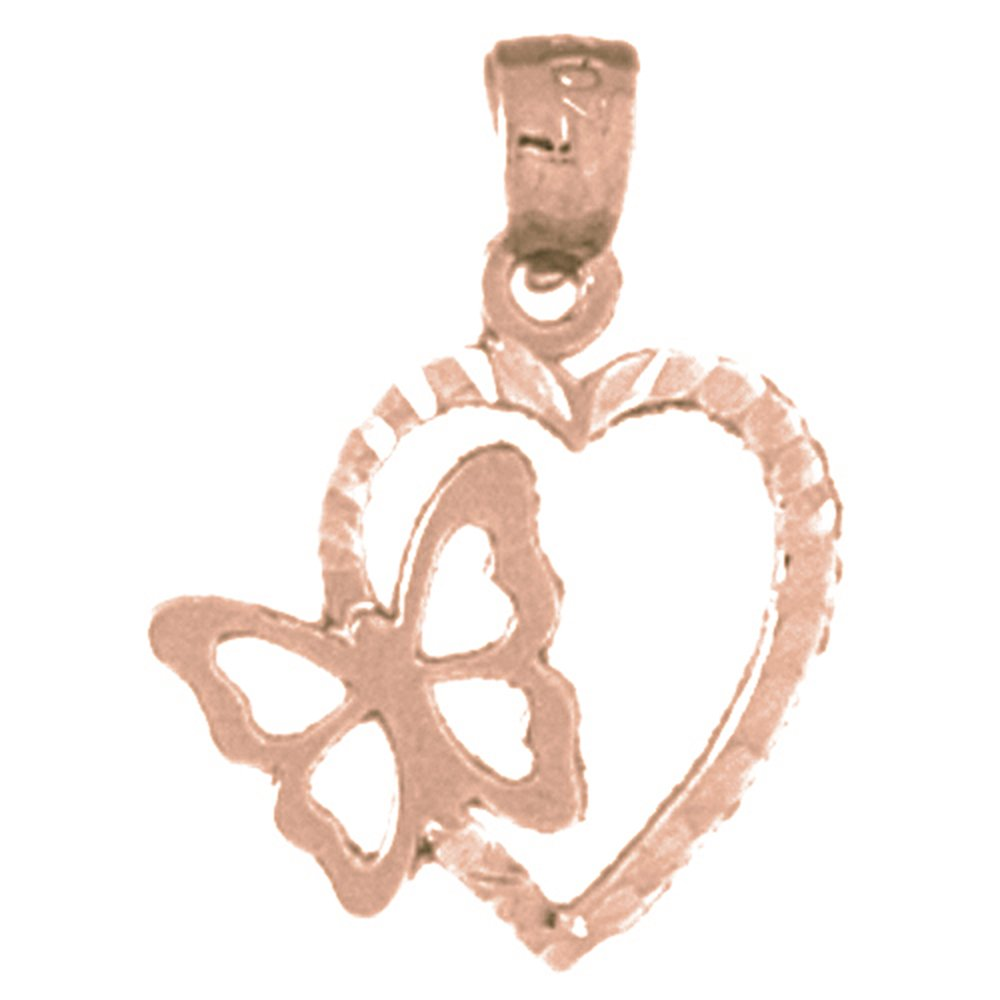 Jewels Obsession Heart With Bow Pendant Sterling Silver 925 Heart With Bow Pendant 17 mm