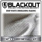 """EMF RF RFID FARADAY Cell Block Wave Shielding Fabric 43"""" X 5 Yards Blackout Shield"""