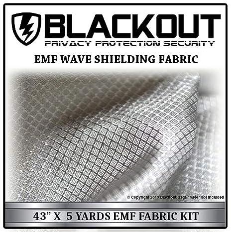 EMF RF RFID Faraday Cell Block Wave Shielding Fabric 43 inches X 15 Feet  Blackout Shield
