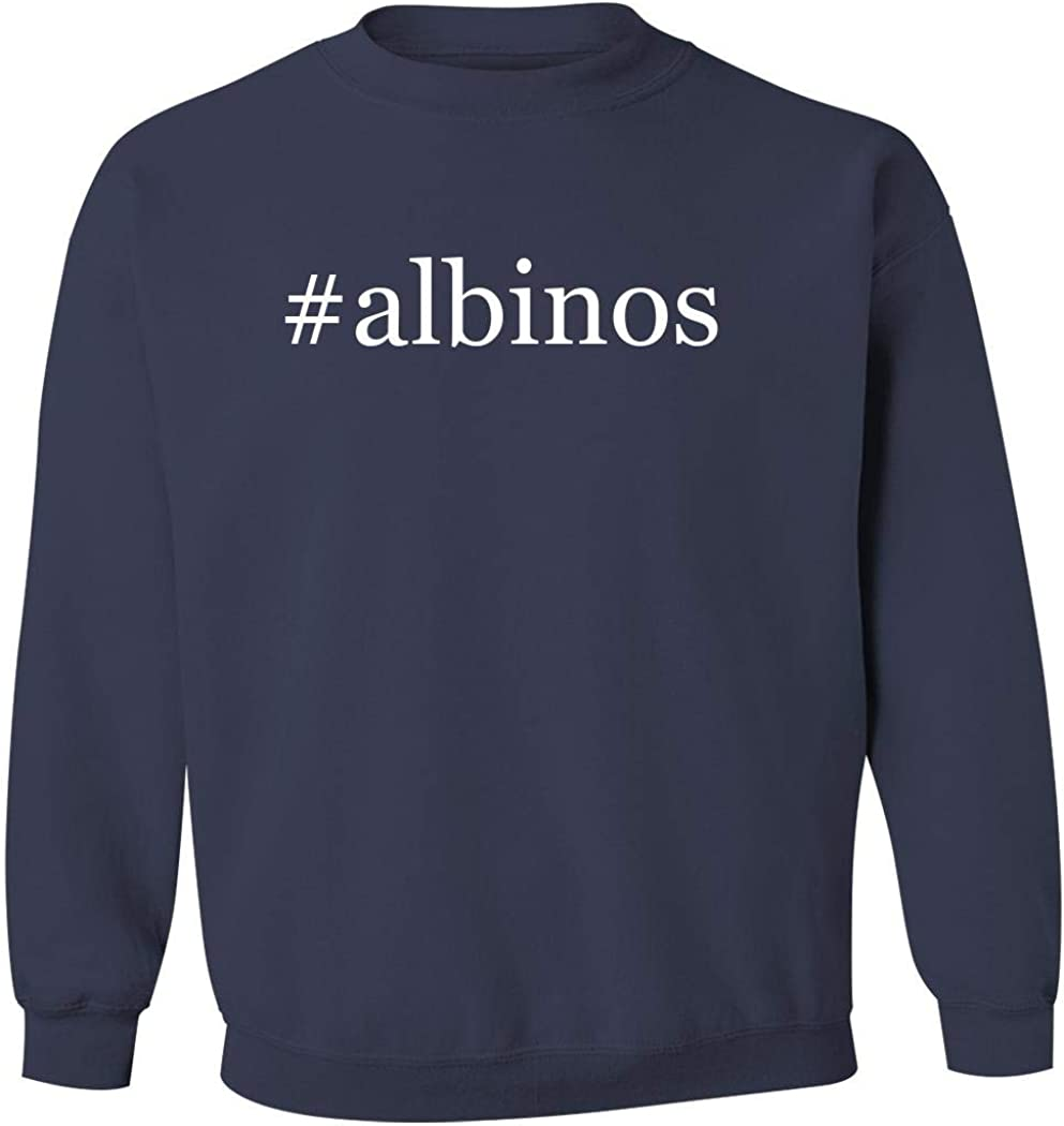 #albinos - Men's Hashtag Pullover Crewneck Sweatshirt, Navy, X-Large 51gEsll44vL
