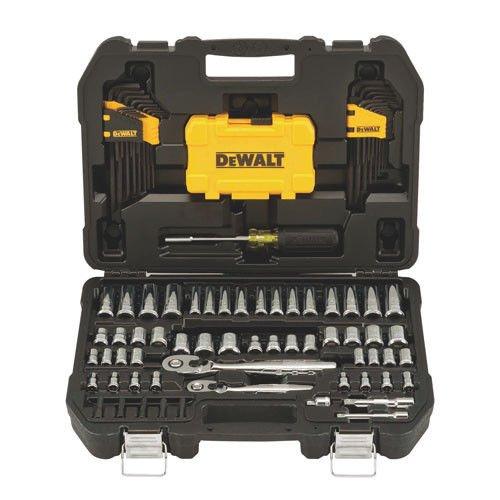 Dewalt DWMT73801 1/4 in & 3/8 in Drive Mechanics Tools Set,108 Piece