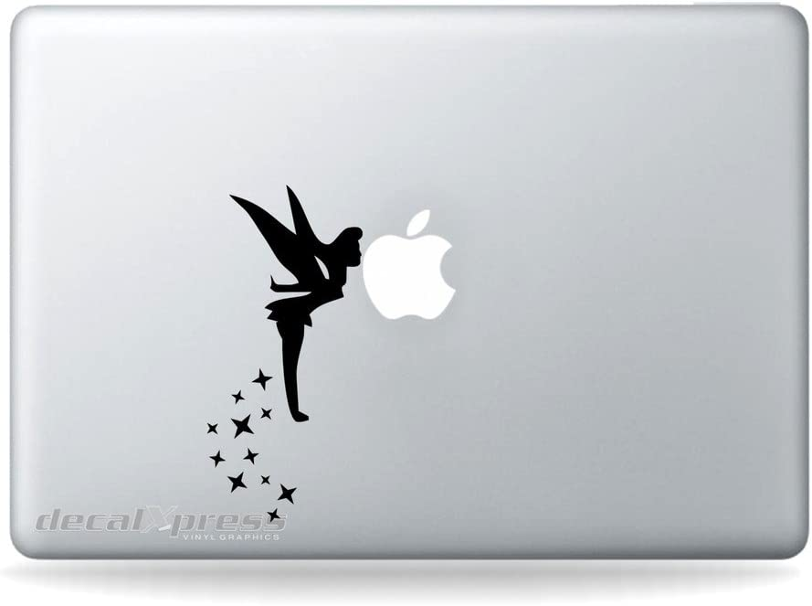 Tinkerbell Fairy Kissing Apple- Decal Sticker for MacBook, Air, Pro All Models