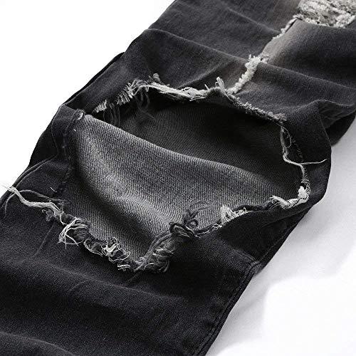 Qk Strappati Denim lannister Ragazzo Pants Jeans Grau Stretch Skinny Pantaloni Uomo qqrzTZ