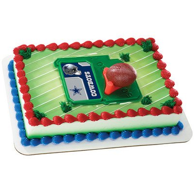 NFL Dallas Cowboys Cupcake Cake Decoration Toppers Decoration Football]()