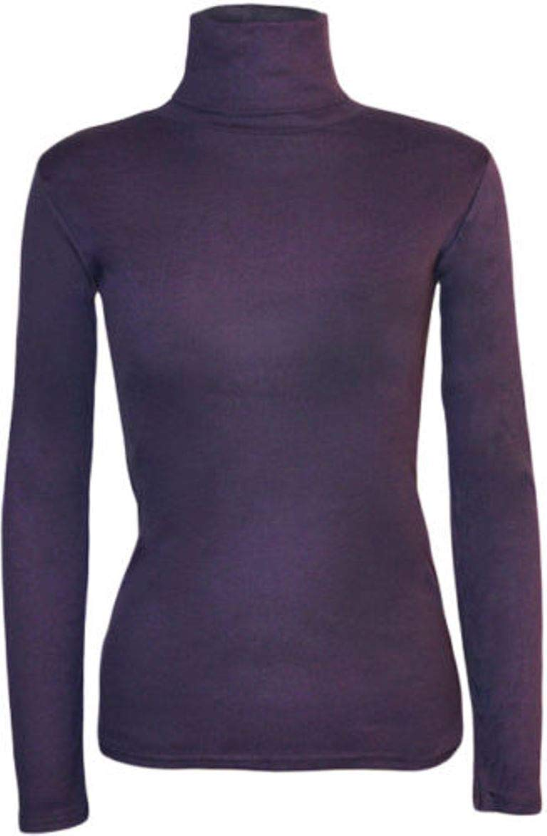 c8e341cdfb4 WOMENS LADIES LONG SLEEVE TURTLE NECK TOP ROLL NECK POLO NECK PLAIN ...