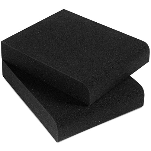 Sound Addicted - Studio Monitor Isolation Pads for 3 - 4.5'' Inch Small Speakers, Pair of Two High Density Acoustic Stands Foam Which Fits most Bookshelfs and Desktops | SMPad 4