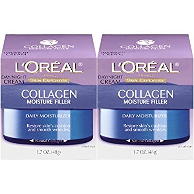 L'Oréal Paris Collagen Moisture Filler Facial Day Night Cream, 1.7 oz.