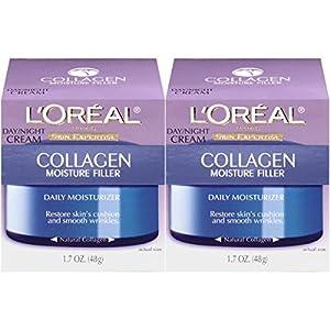 L'Oreal Paris Skin Care Collagen Moisture Filler Facial Day Night Cream, 2 Count