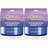 L'Oréal Paris Skincare Collagen Face Moisturizer, Day and Night Cream Collagen Moisture Filler, 2 count