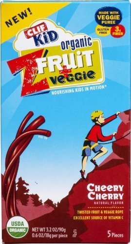 Clif Kid Organic Fruit Twist Cheery Cherry, 3.5 Ounce (Pack of 6) (Cherry Dry Fruit)