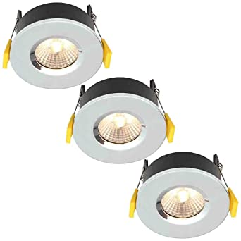Stanley Volta Fire Rated – Bombillas LED empotrables (cromo, ...