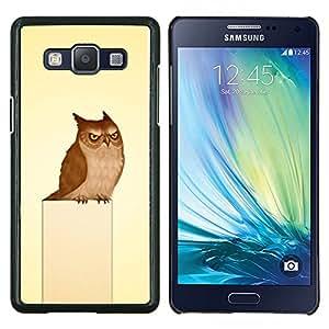 LECELL--Funda protectora / Cubierta / Piel For Samsung Galaxy A5 A5000 -- Búho gruñón del arte del pájaro Dibujo Fairytale --