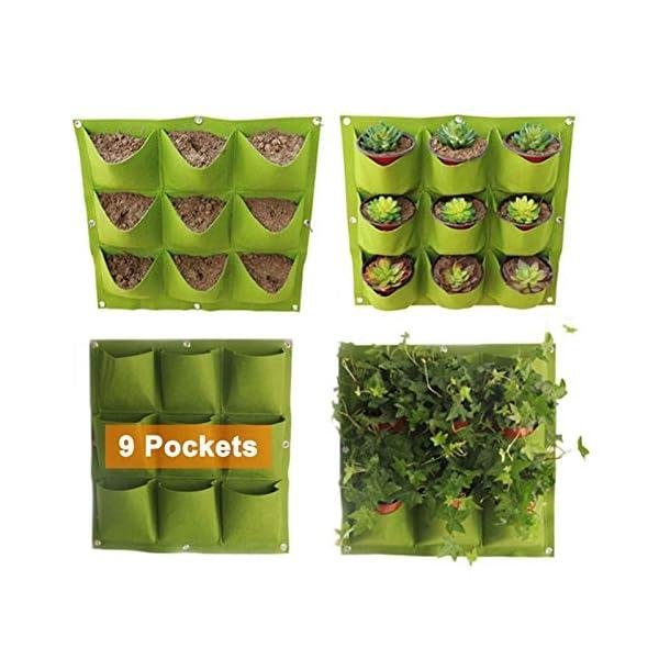 GETSO Wall Hanging Piantare Borse 24 Dimensioni Tasche Verde coltiva Il Sacchetto Planter Verticale Orto Living Bonsai… 4 spesavip
