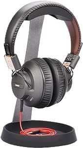 Avantree Aluminum Metal Headphone Stand Hanger with Cable Holder, Black Desk Earphone Mount Rack for Sennheiser, Sony, Bose, Beats Gaming Headset Display, Fancy Music Studio Accessories - HS102