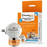 ThunderEase Multicat Calming Pheromone Diffuser Kit - Reduce Cat Conflict, Tension and Fighting (30 Day Supply)