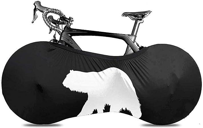 HUA Cubierta de Bicicleta Silueta de Oso Polar Cubierta de Polvo ...