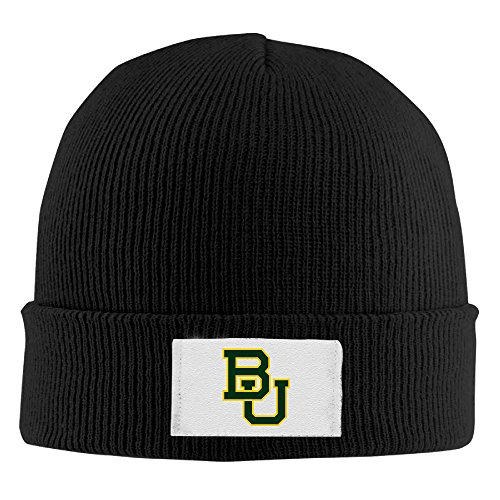 SOOSU Unisex Baylor University BU Logo Beanie Hat Black]()