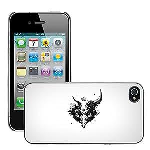 Super Stellar Slim PC Hard Case Cover Skin Armor Shell Protection // M00047734 aero white death creative black // Apple iPhone 4 4S