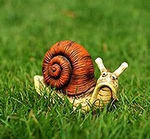 Anna jardín decoración emulación de resina caracol casa jardín al aire libre Decor