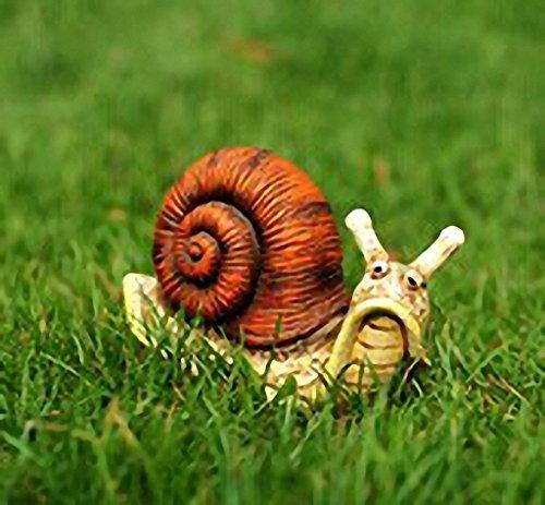 Anna Garden Decor 13 x 6 x 8 CM Resin Emulation Snail Home Outdoor Garden Decor