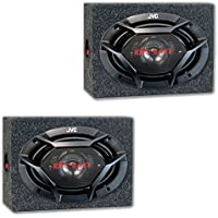 Package Pair of JVC CS-DR6930 6x9 3-Way Car Audio Coaxial Speakers with (Optional) Speaker Boxes