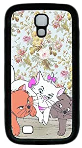 Galaxy S4 Case, Personalized Protective Soft Rubber TPU Black Edge Cats01 Case Cover for Samsung Galaxy S4 I9500