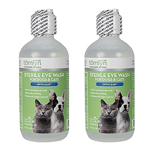 (Tomlyn Sterile Eye Wash for Dogs and Cats, (Opticlear) 4oz, 2 pack)