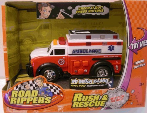 Road Rippers - Rush & Rescue Mini Ambulance 17 by Road Rippers (English Manual)