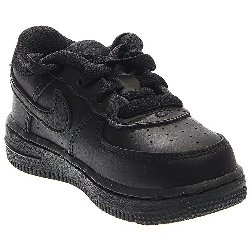 Nike Toddlers Force 1  Black/Black/Black Basketball Shoe 3 I