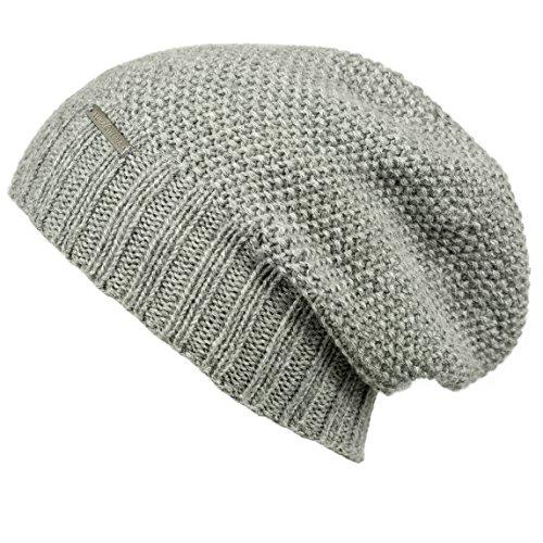 LUNA & TERRA - TRIESTE Hat Beanie Hand Knitted 100% BABY ALPACA (Silver)