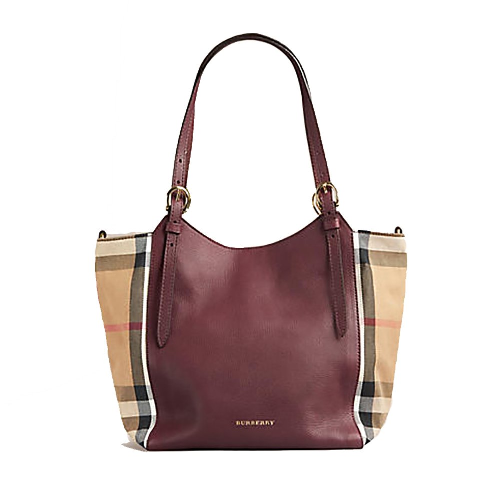 41ca2f948bc2 Tote Bag Handbag Authentic Burberry Small Canter in Leather and House Mahogany  Red Color Made in Italy  Handbags  Amazon.com
