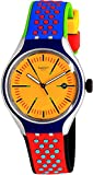 Swatch Men's Amarelho YES4015 Yellow Rubber Swiss Quartz Fashion Watch