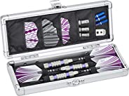 Casemaster Accolade Aluminum Dart Case Holds 3 Steel Tip and Soft Tip Darts, Slim Profile Fits into Your Pocke