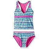 Vigoss Big Girls' Splash Two Piece Racer Back Tankini Swimsuit, Magenta, 14