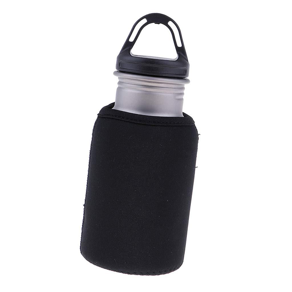 Baoblaze Metall Trinkflasche - Sport Wasserflasche mit Schutzhülle Sportflasche für Outdoor-Camping, Wandern, Angeln