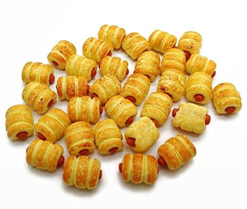 Unbranded 20 pcs Dollhouse Miniature Sausage Rolls Fast -