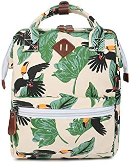 b5963a7ede FITMYFAVO Stylish Doctor Style Multipurpose School Travel Backpack for Men  Women - Tropical Toucan